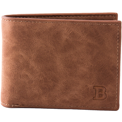 Men Leather Wallet Blocking Men's Minimalist Slim Leather Credit Card HolderCoin Pocket Purse Coffee one size