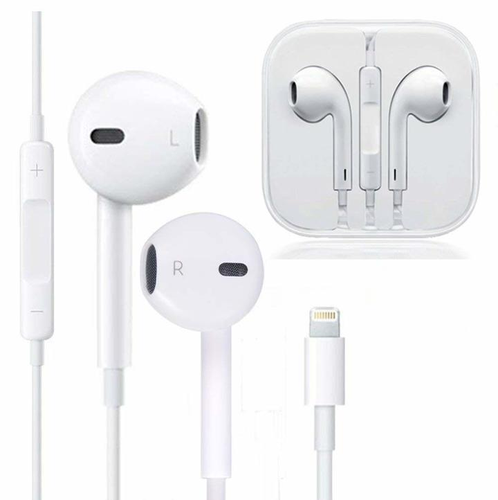 Earphones with Microphone Earbuds Stereo Headphones for iPhone 7/7Plus/8/8Plus/X 10/iPhone Xs Max/XS White