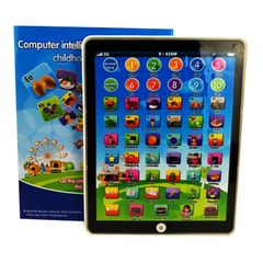 Kids' Tablet Children Computer Learning Education Machine Tablet Toy For Kids Educational toys blue style 1 normal