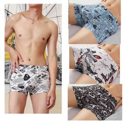 3-piece men's underwear comfortable mesh boxer briefs shorts panties 3 pack colors by random xl(50-60kg)