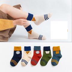 5 Pair  Crew Grip Socks Anti Slip Non Skid Sock for Baby Toddler Infant Newborn Kids Girls 5 Pair L -- 6-9 years old, Foot length--17-21cm
