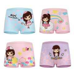 4PCS Baby Girls Soft Cotton Underwear Boxer Briefs  Girl Panties for 2-9 Year 4 pack style 1 M( for S-M-for 2-6 year)