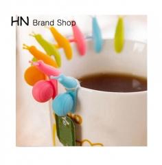 HN-5 PCS Cute Snail Shape Silicone Tea Bag Holder Cup Mug Hanging Tool Tea Tools Randome Color multi as picture