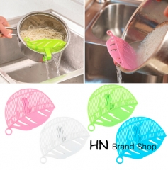 HN-Durable Clean Leaf Shape Rice Strainer Sieve Beans Peas Cleaning Gadget Strainer for Kitchen Tool multi as picture