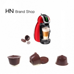 HN Brand-2pcs/pack Refillable Dolce Gusto coffee Capsule nescafe dolce gusto dolce gusto capsules Brown as picture