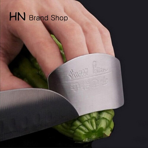 HN Brand-Tools Stainless Steel Finger Hand Protector Guard Personalized Design Chop Safe Slice Knife silver as picture