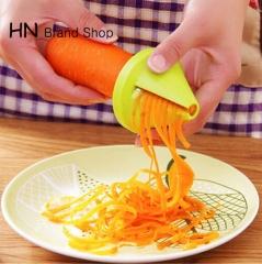 HN Brand-Gadget Funnel Model Spiral Slicer Vegetable Shred Device Cooking Salad Carrot Radish Cutter green as picture