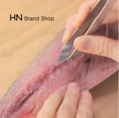 HN Brand-Cheap Stainless Steel Fish Bone Tweezers Remover Pincer Puller Tongs Pick-Up Tool Crafts silver as picture