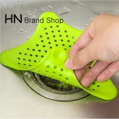 HN Brand-Silicone Kitchen Sink Filter Sewer Drain Hair Colanders & Strainers Filter Bathroom Sink mix color as picture