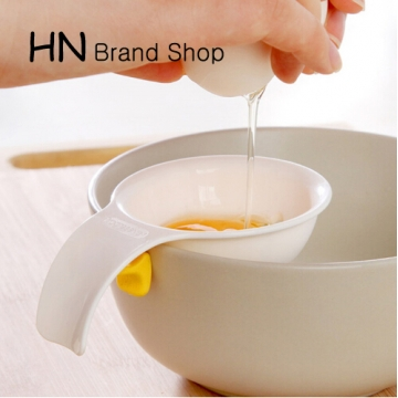 HN Brand-Mini Egg Yolk White Separator With Silicone Holder white as picture