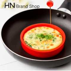 HN-Round Shape Silicone Omelette Mould Shape for Eggs Frying Pancake Cooking Breakfast Essential red as picture