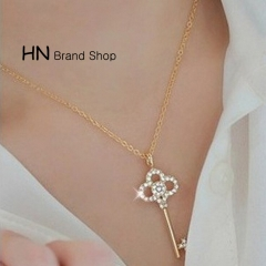 HN Brand-1Pcs/Set New Beautiful Fashion Key chain Crystal diamond necklaces For Women Jewellery Gift gold chain length:46cm