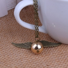 HN Brand-1Pcs/Set New Beautiful Fashion Golden fly thief Necklace snitch gold necklaces For Women Coppery one size