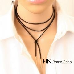 HN Brand-1Pcs/Set New Beautiful Free adjustment of knitting wool Sweater Necklace Women Jewellery gold Adjustable