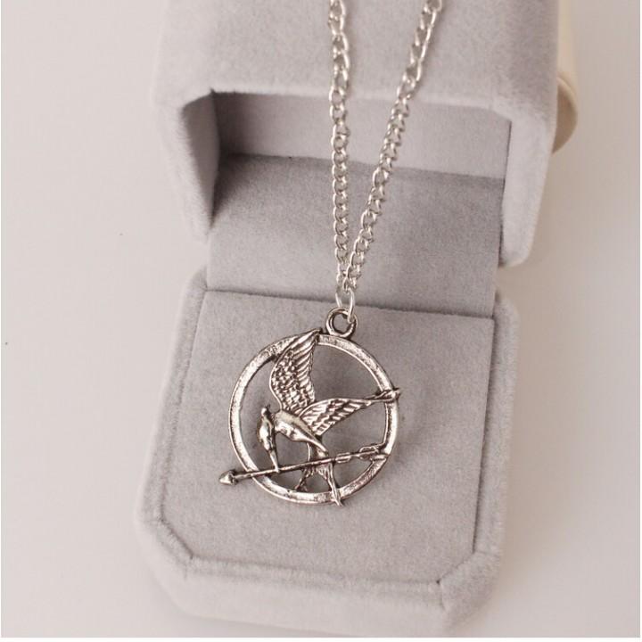 HN Brand-1Pcs/Set New Beautiful Mock a bird Necklace Pendant for Christmas Women Jewellery silver chain length:72cm