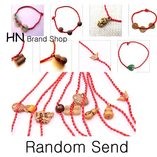 HN Brand-1Pcs/Set New Good Luck Gift Red String Bracelet variety of styles random Women Jewellery Random send Adjustable