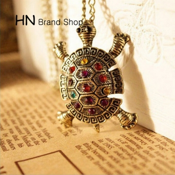 HN Brand-1Pcs/Set New cute little turtle Necklaces Jewelry necklace Pendant Women Jewellery Gift gold chain length:70cm