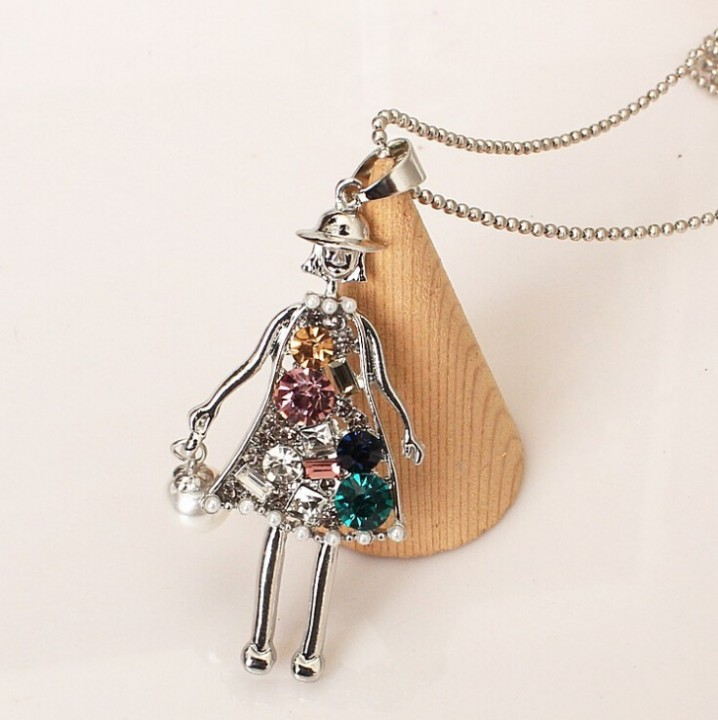 HN Brand-1Pcs/Set New All-match bottle crystal decoration necklace Pendant Women Jewellery Gift girl one size