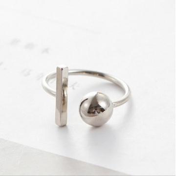 HN Brand-1 piece/Set New Beautiful Round square metal Rings Women Jewellery Gift silver diameter:1.8cm