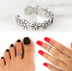 HN Brand-1 piece/Set New Beautiful Daisy Rings Women Jewellery Christmas Gift silver one size