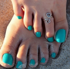 HN Brand-1 piece/Set New Beautiful Sandy beach Metal Rings Women Jewellery Christmas Gift silver one size