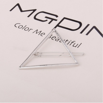 HN Brand-1 piece/Set New Triangle moon Alloy Hairpin For Women Hair Jewellery Accessories Gift silver Triangle one size