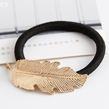 HN-1 piece/Set New Metal feather hair ornaments female Hair headdress accessories Women Jewellery Leaf shape as picture