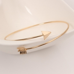 HN-1Pcs/Set New Fashion Arrow opening Metal Bracelets Bangles Women Jewellery Gift gold as picture