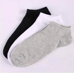 HN-1 Pair/Set New Fashion Boat Socks For Men Cotton Socks Ventilation Menswear Accessories Gift Black telescopic elastic