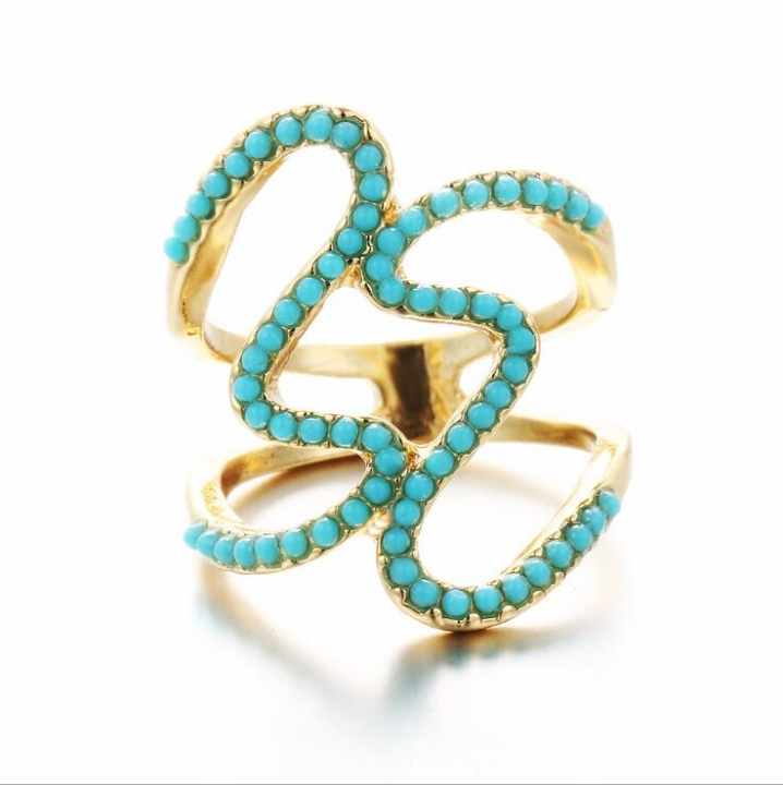 56e67393a3a23 Kilimall  HN-1 piece Set New Real Gold Bohemia Turquoise luxury ...