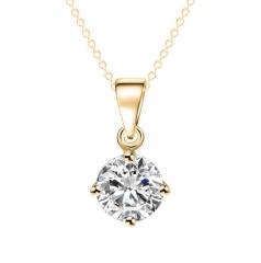 HN-1 Piece/Set New AAA zircon diamond love Alloy Necklaces Pendant Women And Men Jewellery Gift gold chain length:41cm