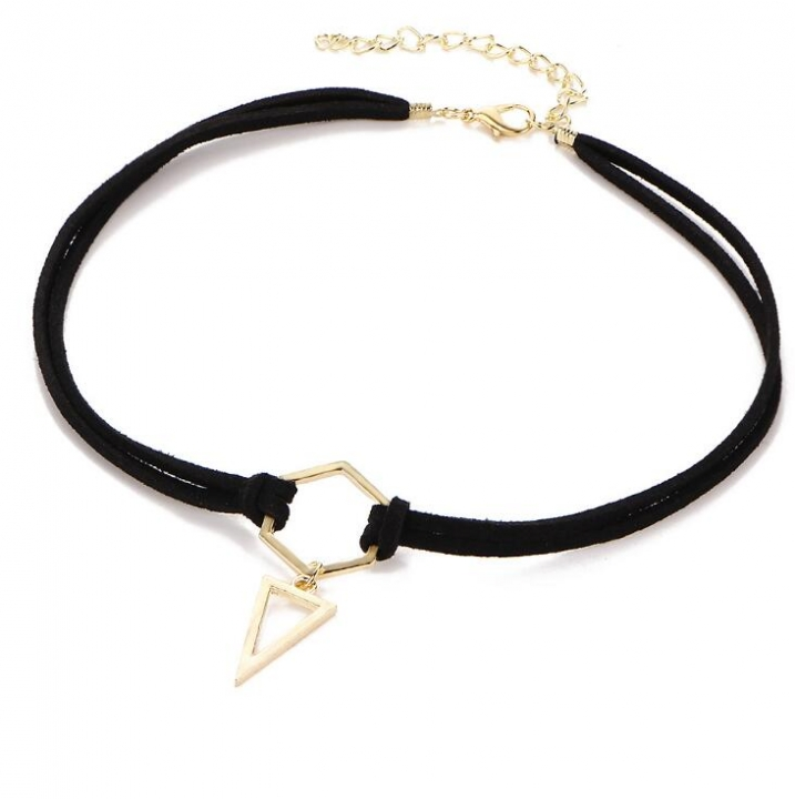 HN-1 piece/Set New Fashion Triangle geometry Pendant Choker Necklace Jewelleryt gold as picture