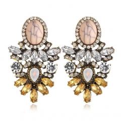 HN-1 Pair/Set New Fashion Vintage Turquoise Stud Drop Earrings For Women Jewellery Gift crystal as picture
