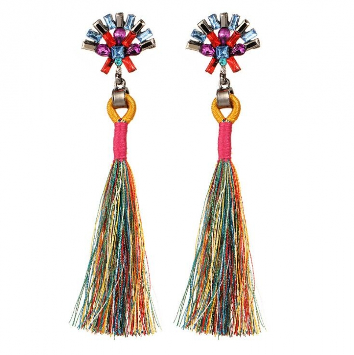 HN-1 Pair/Set New Fashion Bride brief handmade diamond Stud Drop Earrings For Women Jewellery Gift Colorful as picture