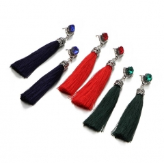 HN-1 Pair/Set New FashionGem diamond crystal Stud Drop Earrings For Women Jewellery Gift red as picture