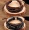 HN-1 Piece/Set New Fashion Retro DIY Leatherwear Metal Bracelets Bangles Women Jewellery black as picture