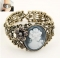HN-1 Piece/Set New Colorful Embossed openings style Bracelets Bangles Women Men Jewellery gold as picture