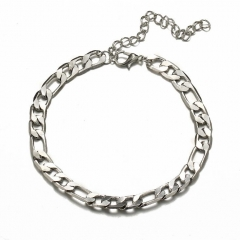 HN-1 Piece/Set New Figaro fashion chain Anklets Bracelets Bangles Women Men Jewellery Silver as picture