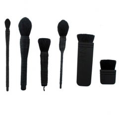 HN-6 piece/Set New NARS Classic wool Luxury Eye Brush full coverage kabuki Women Beauty Makeup tools black