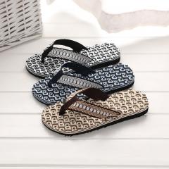 HN brand Men's comfortable massage slippers flip-flops brown 40