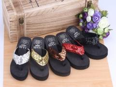 HN Brand Women's  Classic hot style beach flip-flops black 36