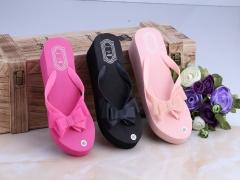 HN Brand Women's  Japanese Korean edition bow-tie flip-flops pink 36