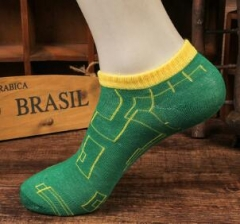 HN Brand 1 Pair/Set  New Fashion Socks For Men Pure Cotton Socks Breathable man green telescopic elastic