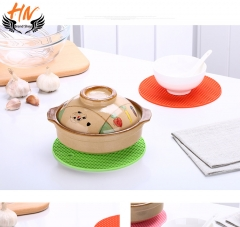 HN Brand  5pcs/set  Silicone Kitchen  non-slip and Insulation mat  originality round cup pad mix color 18*18 cm