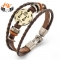 HN Brand 1 Piece New Fashion 12 constellation Woven leather Bracelets Bangles Men Women Jewellery Libra as picture