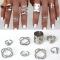 HN Brand 8 piece/Set New Beautiful Bohemia metal Arrow cylinder Rings Women Jewellery Christmas Gift silver one size