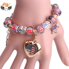 HN Brand 1Pcs/Set New Ladies Bracelet Watches Heart Bracelet Watch For Women Jewellery Gift as picture 1