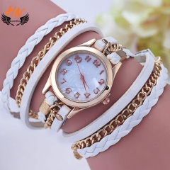 HN Brand 1Pcs/Set New Ladies Woven rope linked list  Watch For Women Jewellery Gift white
