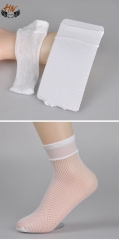 HN Brand 1 Pair New Fashion Hollow out fishing nets Socks Cheap Sale Women Silk stockings white Small grid