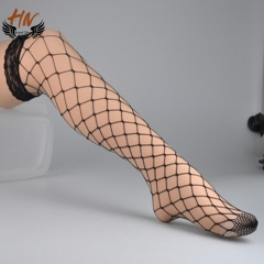 HN Brand 1 Pair New Fashion Hollowed-out fishing net Socks Cheap Sale Women Silk stockings black scalable